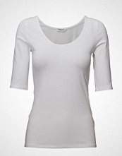 Filippa K Cotton Stretch Scoop Neck Top T-shirts & Tops Short-sleeved Hvit FILIPPA K