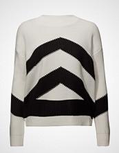 Mango Contrast Knit Sweater