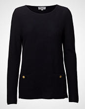 Davida Cashmere Front Pockets Box Sweater (With Gold Buttons)