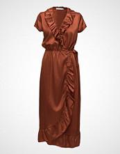 Coster Copenhagen Dress In Snake Jacquard W. Ruffle