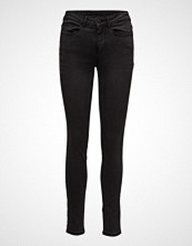 Vila Vicommit Felicia Rw Slim Black-Noos Slim Jeans Svart VILA