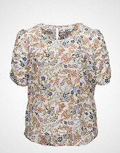 Violeta by Mango Puffed Sleeves Floral Shirt