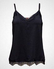 Coster Copenhagen Strap Top W. Lace T-shirts & Tops Sleeveless Svart COSTER COPENHAGEN