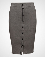 T by Alexander Wang Skinny Rib Pencil Skirt W/ Snap Detail