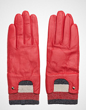 Tommy Hilfiger Corp Rib Leather Gloves