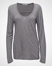 T by Alexander Wang Drapey Jersey L/S Tee W/Tdarting Detail