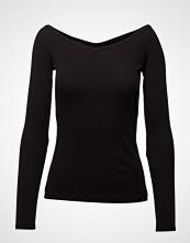 DESIGNERS, REMIX Melody Off-Shoulder T-shirts & Tops Long-sleeved Svart DESIGNERS, REMIX
