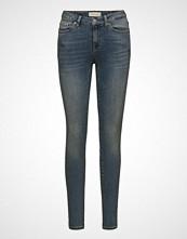 Selected Femme Slfida Mw Skinny Mid Blue Jeans W  Noos