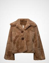 by Ti Mo Faux Fur Jacket Jakke Brun BY TI MO