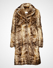 Just Female Enzo Fake Fur Coat Frakk Jakke Brun JUST FEMALE