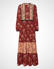 Scotch & Soda Mixed Print Maxi Dress With Ladder & Ruffle Details