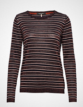 Scotch & Soda Knitted Crew Neck In Stripes With Lurex