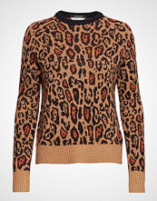 Scotch & Soda Crew Neck Knit In Animal Pattern Strikket Genser Oransje SCOTCH & SODA