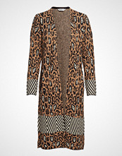 Scotch & Soda Longer Length Cardigan In Animal & Geo Pattern, With Buckle