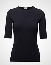 Filippa K Cotton Stretch Elbow Sleeve T-shirts & Tops Short-sleeved Blå FILIPPA K