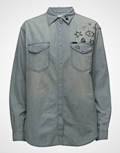 Lee Jeans Over D Western Langermet Skjorte Blå LEE JEANS