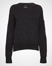 Scotch & Soda Basic Crew Neck In Fluffy Yarn Strikket Genser Svart SCOTCH & SODA