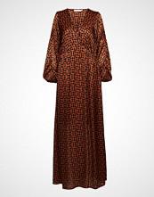 Rabens Saloner Graphic Lurex Long Dress
