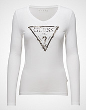 GUESS Jeans Ls Vn Embellishment Tee