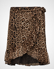 Saint Tropez Leopard Print Wrap Skirt
