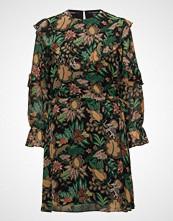 Scotch & Soda Printed Drapey Ruffle Dress
