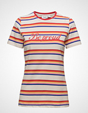 Saint Tropez Striped T-Shirt W Text