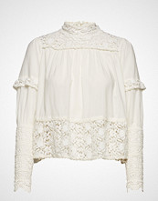 by Ti Mo Vintage Cotton High Neck Blouse