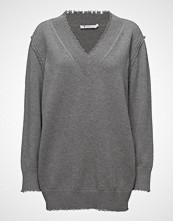 T by Alexander Wang Raw Edge V-Neck Dress