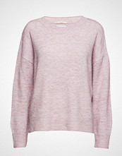Scotch & Soda Basic Crew Neck In Fluffy Yarn Strikket Genser Rosa SCOTCH & SODA