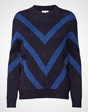 Lee Jeans Pattern Knit Strikket Genser Blå LEE JEANS