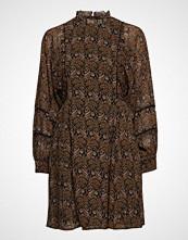 Scotch & Soda Sheer Printed Dress With Voluminous Sleeves