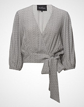 Designers Remix Freja Wrap Top T-shirts & Tops Long-sleeved Grå DESIGNERS REMIX