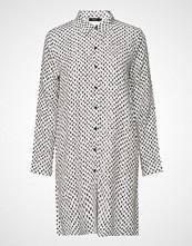 Nanso Ladies Shirt, Vinoruutu Langermet Skjorte Hvit NANSO