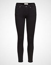 Selected Femme Slfida Mw Skinny Black Jeans W Noos Skinny Jeans Svart SELECTED FEMME