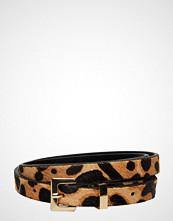 Mango Animal Print Leather Belt