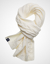 Superdry Arizona Cable Scarf Skjerf Creme SUPERDRY