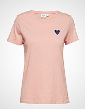 Saint Tropez T-Shirt W Embr Heart Organic