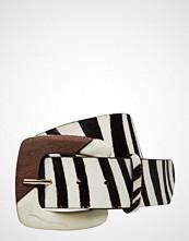 Mango Zebra Leather Belt
