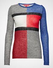 Hilfiger Collection Tommy Flag Sweater Ls Strikket Genser Multi/mønstret HILFIGER COLLECTION