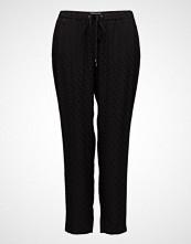 Violeta by Mango Polka-Dot Textured Trousers