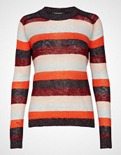 Scotch & Soda Knitted Crew Neck In Colourful Stripes