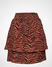 Coster Copenhagen Skirt In Zebra Print W. Smock Waist