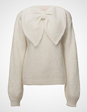 by Ti Mo Hairy Knit Bow Jumper Strikket Genser Creme BY TI MO