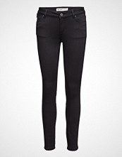 Mos Mosh Victoria 7/8 Silk Touch Skinny Jeans Svart MOS MOSH