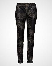 Mos Mosh Naomi Shine Printed Pant Skinny Jeans Svart MOS MOSH