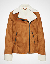Violeta by Mango Faux Shearling-Lined Jacket