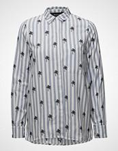 Raiine Blythe Shirt Langermet Skjorte Blå RAIINE