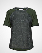 Coster Copenhagen Blouse W. Jersey Back And Leopard Print