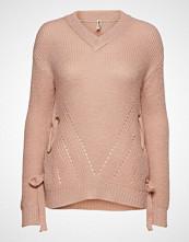 Imitz Pullover-Knit Heavy Strikket Genser Rosa IMITZ