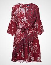 French Connection Ellette Crepe Frill Wrap Dress